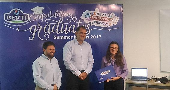 Beyti honors students who participated in the company's summer training program